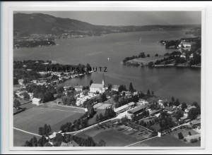 ZZ-0777/ Egern am Tegernsee Foto seltenes Luftbild 1937 18 x 13 cm