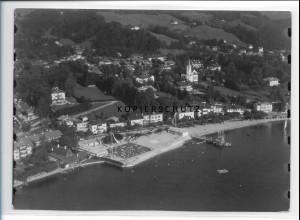 ZZ-0775/ Tegernsee Foto seltenes Luftbild 1937 18 x 13 cm