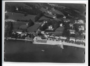 ZZ-0774/ Tegernsee Foto seltenes Luftbild 1937 18 x 13 cm