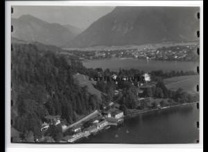 ZZ-0772/ Tegernsee Foto seltenes Luftbild 1937 18 x 13 cm