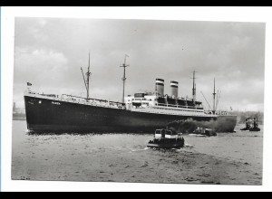 V198/ Dampfer Hansa Hamburg-Amerika-Linie Foto AK ca.1935