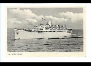 V196/ Dampfer TS Castel Felice AK 1954