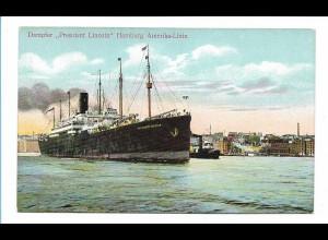 V193/ Dampfer President Lincol Hamburg-Amerika-Linie AK ca.1910