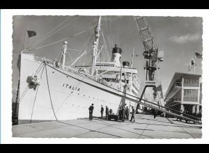 V199/ Dampfer Italia am Steubenhöft in Cuxhaven AK 1959