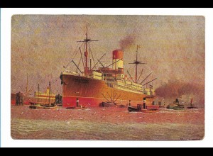 V200/ Postdampfer Vigo Hamburg-Süd AK ca.1925