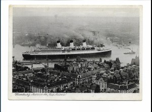 V204/ Dampfer Cap Arcona in Hamburg AK 1939 Hamburg-Süd