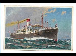 V205/ Dampfer Antonio Delfino Hamburg Litho AK Hamburg-Süd ca.1925