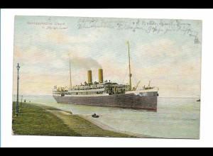 V207/ Dampfer Königin Luise Nordd. Lloyd AK 1910