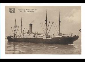 V214/ Dampfer Württemberg HAPAG Frachter Handelsschiff AK ca.1925