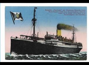 V215/ Dampfer Thuringia HAPAG Hamburg-Amerika-Linie AK 1925