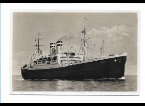 V216/ Dampfer Hamburg Foto AK + Schiffspost 1937