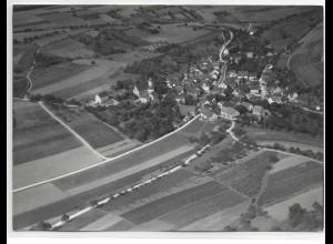 ZZ-0048/ Stuppach bei Mergentheim Foto Strähle Luftbild 1937 18 x 13 cm