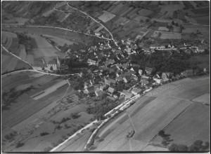 ZZ-0047/ Althausen bei Mergentheim Foto Strähle Luftbild 1937 18 x 13 cm