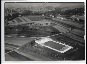 ZZ-0879/ Bad Berka Thüringen Foto seltenes Luftbild 1937 18 x 13 cm