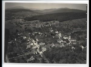 ZZ-0930/ Wittlingen bei Lörrach Foto seltenes Luftbild ca.1938 18 x 13 cm cm