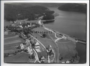 ZZ-0932/ Schluchsee Foto seltenes Luftbild 1935 18 x 13 cm