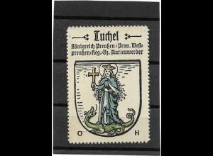 Y16669/ Reklamemarke TUCHEL in Westpreußen Wappen Kaffee Hag
