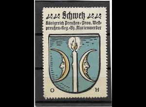 Y16673/ Reklamemarke SCHWETZ Westpreußen Wappen Kaffee Hag
