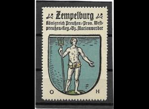 Y16674/ Reklamemarke ZEMPELBURG Westpreußen Wappen Kaffee Hag