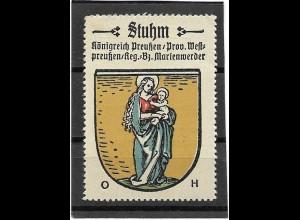 Y16676/ Reklamemarke STUHM Westpreußen Wappen Kaffee Hag