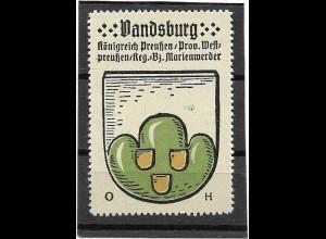 Y16677/ Reklamemarke LANDSBERG Westpreußen Wappen Kaffee Hag