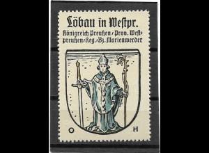 Y16684/ Reklamemarke LÖBAU Westpreußen Wappen Kaffee Hag