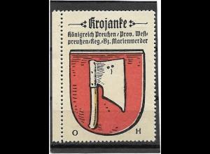 Y16685/ Reklamemarke KROJANKE Westpreußen Wappen Kaffee Hag