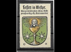 Y16687/ Reklamemarke LESSEN Westpreußen Wappen Kaffee Hag