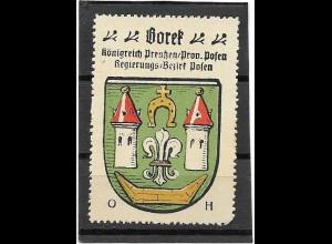Y16689/ Reklamemarke BOREK Posen Wappen Kaffee Hag
