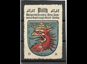 Y16691/ Reklamemarke PÖLITZ Pommern Wappen Kaffee Hag