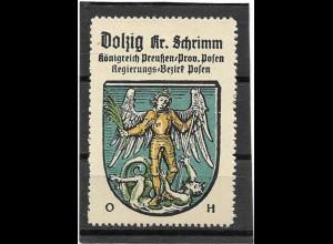 Y16696/ Reklamemarke Dolzig Krs. Schrimm Posen Wappen Kaffee Hag