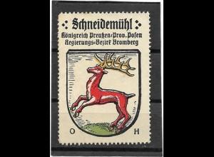 Y16698/ Reklamemarke Schneidemühl Westpreußen Wappen Kaffee Hag
