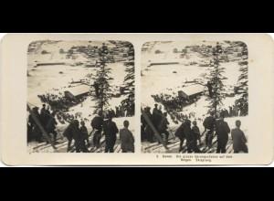 Y15339/ Davos Skisprungschanze a.d. Bolgen Schweiz Stereofoto NPG Foto ca.1905