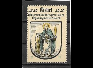 Y16705/ Reklamemarke KIEBEL Prov. Posen Wappen Kaffee Hag