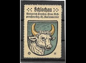 Y16707/ Reklamemarke SCHLOCHAU Westpreußen Wappen Kaffee Hag