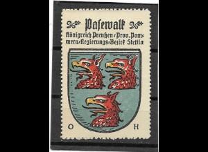 Y16708/ Reklamemarke PASEWALK Meckl. Wappen Kaffee Hag