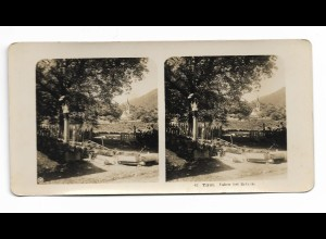 Y15337/ Vahrn b. Brixen Südtirol Italien Stereofoto NPG Foto ca.1905