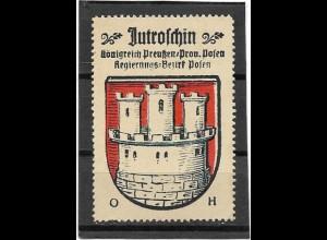 Y16709/ Reklamemarke JUTROSCHIN Prov. Posen Wappen Kaffee Hag