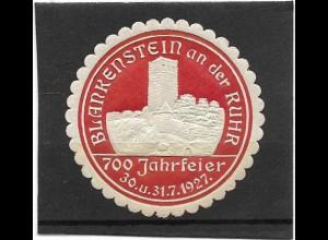 Y16713/ Siegelmarke Birkenstein a.d. Ruhr 700 Jahrfeier 1927