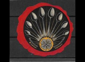 Y16712/ Reklamemarke W. Seibel Mettmann Mettmanner Britanniawaren-Fabrik ca.1910