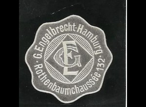 Y16722/ Siegelmarke G. Engelbrecht Hamburg Rothenbaumchaussee 132 ca.1910