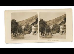 Y15338/ Frag bei Klausen Südtirol Italien Stereofoto NPG Foto ca.1905