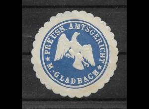 Y16714/ Siegelmarke M.-Gladbach Preuß. Amzsgericht ca.1912