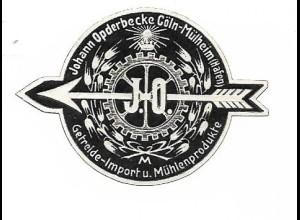Y16715/ Siegelmarke Köln-Mülheim J. Opderbecke Getreide Import ca.1910