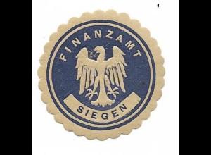 Y16716/ Siegelmarke Finanzamt Siegen ca.1912