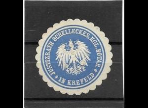 Y16717/ Siegelmarke Krefeld - Justizrath Schelleckes Kgl. Notar ca.1912