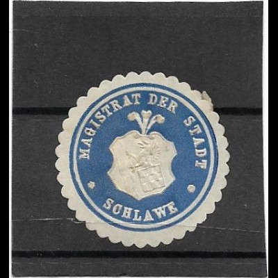 Y16720/ Siegelmarke Magistrat der Stadt Schlawe Pommern ca.1912