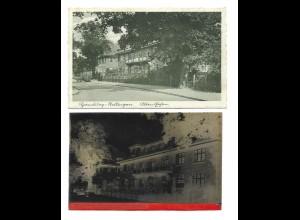Y15328/ Hamburg Stellingen Alten Eichen AK + Negativ ca.1935