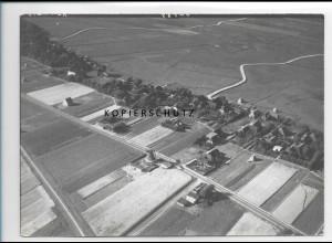 ZZ-0995/ Boldixum auf Föhr mit Windmühle Foto seltenes Luftbild 1939 18 x 13 cm