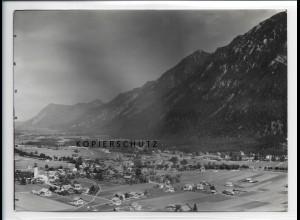 ZZ-1001/ Farchant mit Zugspitze Foto seltenes Luftbild 1935 18 x 13 cm